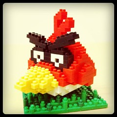 Nanoblock Angry Bird (chrisnanoblock) Tags: birds square squareformat angry hefe nanoblock iphoneography nanoblocks instagramapp uploaded:by=instagram
