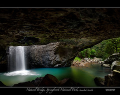 Natural Bridge (southern_skies) Tags: water waterfall australia naturalbridge queensland goldcoast caverock naturalarch springbrooknationalpark