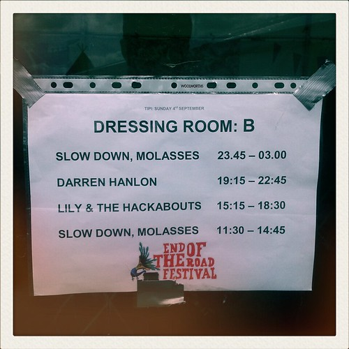 End of the Road - Dressing Room Times