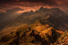 Storm Light - Aiguilles Rouge (Explored) (Steve Thompson images) Tags: storm france mountains alps landscape alpine chamonix hdr frenchalps aiguillesrouge brevent ndgrad montbuet canon1585 aiguilledupouce larvevalley