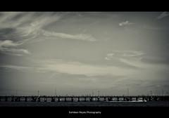Gap (Twitching Eye) Tags: bridge sky blackandwhite landscape canoneos5dmarkii
