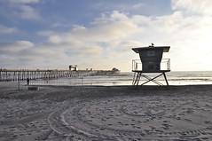 Oceanside (l-seibert) Tags: sky beach water lifeguardtower sandpier