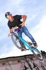 Matteo (Team 360 Degrees) - Jump #2 (rphoto.it) Tags: show bike jump bmx salto trick trial biketrial montebelluna corsomazzini monoruota freestyleshow 25062011 team360degrees