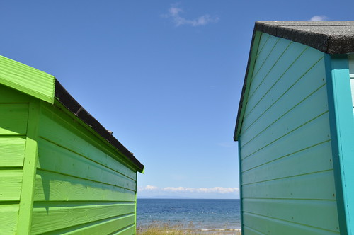 Through the Beach Huts