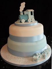 train christening cake (vanillalila) Tags: cake train blocks topper christeningcake baptismcake traincaketopper
