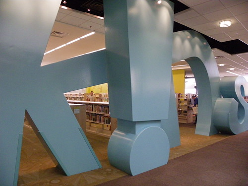 Children's area signage - Herriman Library, Salt Lake County Library Services