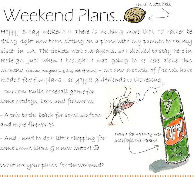 weekend plans 7.1