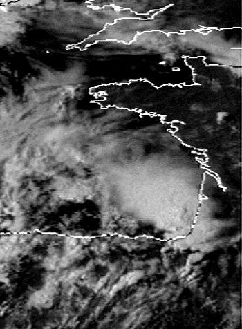 image satellite des orages violents de la mi-juillet 2003 météopassion