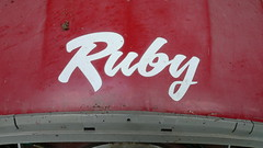 Ruby 2cv (C.Elston) Tags: blue red white forsale citroen engine hidden help devon exeter repair covered 2cv parked ruby rotten dolly 602 2cv6 wel373x d670uan b755caf