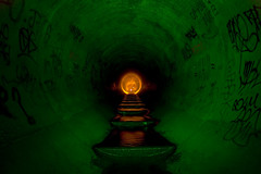 G.O.D. (proper dave) Tags: urban god melbourne drain exploration urbex draining lightpainters