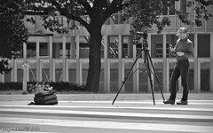Huuuge tripod + fellow photographer... / Museumpark / Rotterdam (zzapback) Tags: city urban bw holland robert netherlands dutch work de mono rotterdam europa europe fotografie photographer tripod nederland van boijmans beuningen stad museumpark fotograaf voogd rotjeknor vormgeving zww grafische huuuuge bergselaan liskwartier blunderput zzapback zzapbacknl robdevoogd stayawakeenjoyyourday
