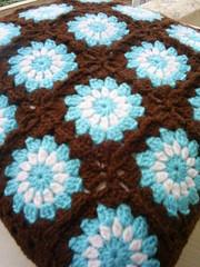 circle in a square cushion cover (riavandermeulen) Tags: vintage circle square crochet retro cover granny cushion