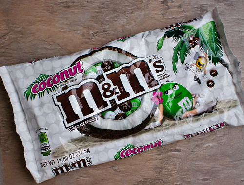 coconut M&Ms package