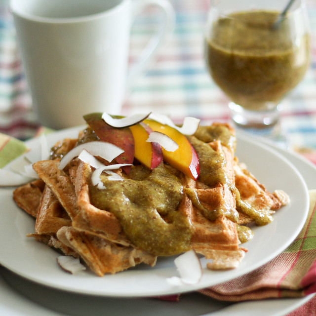 Waffles With a Tropical Twist • The Healthy Foodie