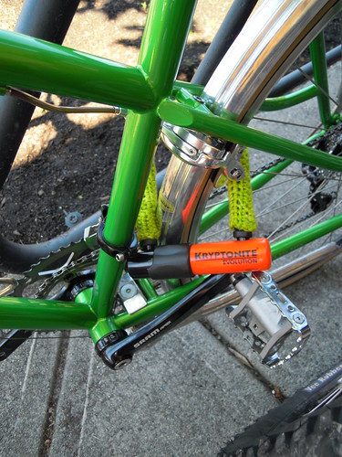 yep, my bike lock has it's very own cozy.