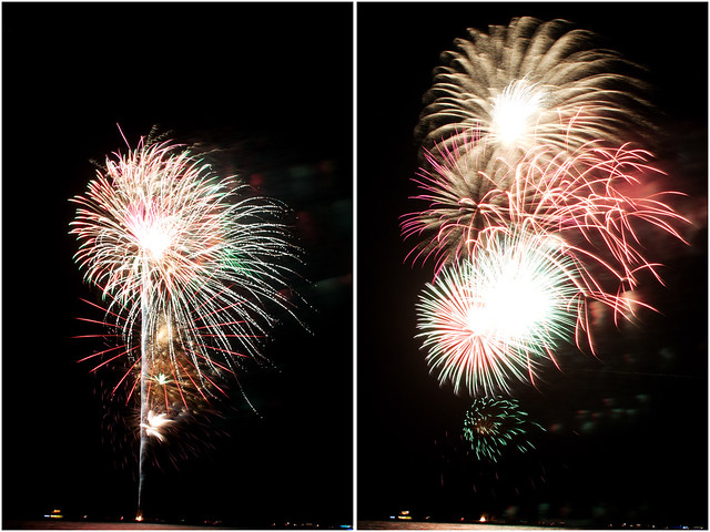July 4th fireworks diptych 14