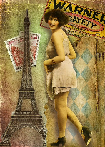 Gay Paree-digital ATC by Lynne Larkin