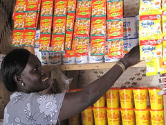 Jacinta runs a trader shop in the village of Nachukui, Kenya