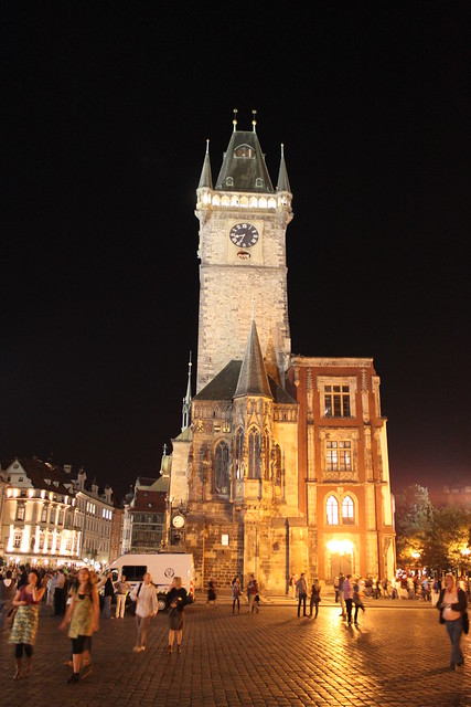 Old Town City Hall at night