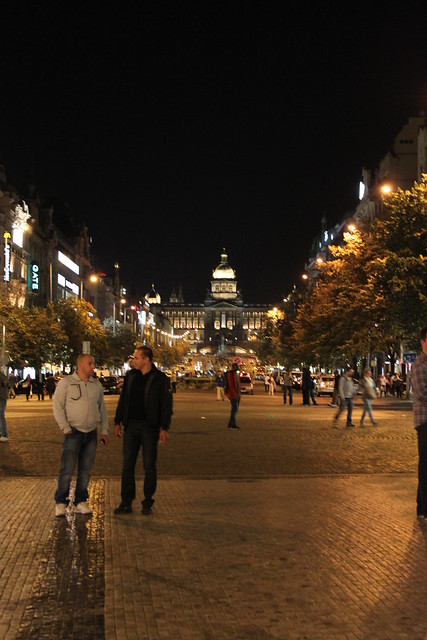 Vaclav's square at night