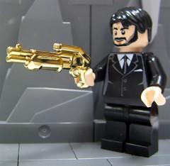 BrickArms - 24K Gold Chase Combat Shotgun (ToyWiz.com) Tags: mystery gold gun military weapon chase brickarms toywiz