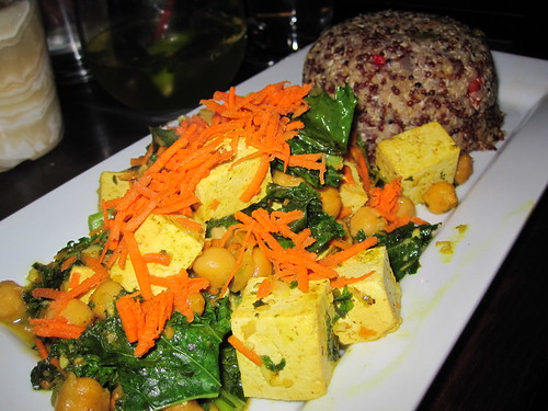 The V Spot - Quinoa w/ Curried Kale