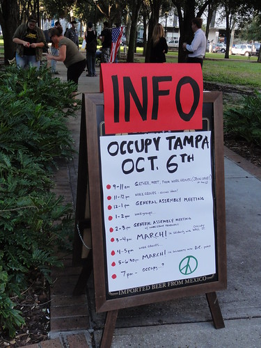 Info about Occupy Tampa events