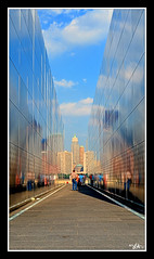 """Empty Sky (L.A. Mathews) Tags: new york city red sky ny never color skyline anne newjersey nikon memorial war remember empty towers 911 twin pic center lesley line jersey terror terrorism wtc walls miss jpeg trade forget remembering wold """"new york"""" 91101 09112001 """"nikon anne"""" d7000 missredmuse """"lesley blinkagain d7000"""" ©2011 musepicture"""