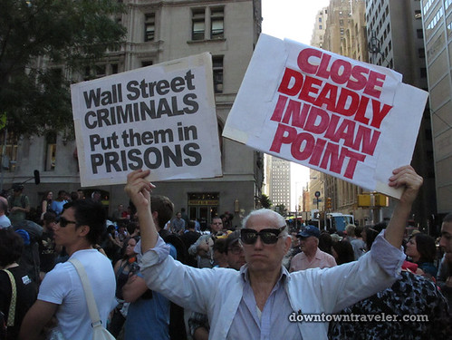 NYC Occupy Wall Street Rally Oct 8 2011 Indian Point