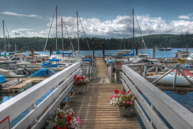 Marina on Galiano Island