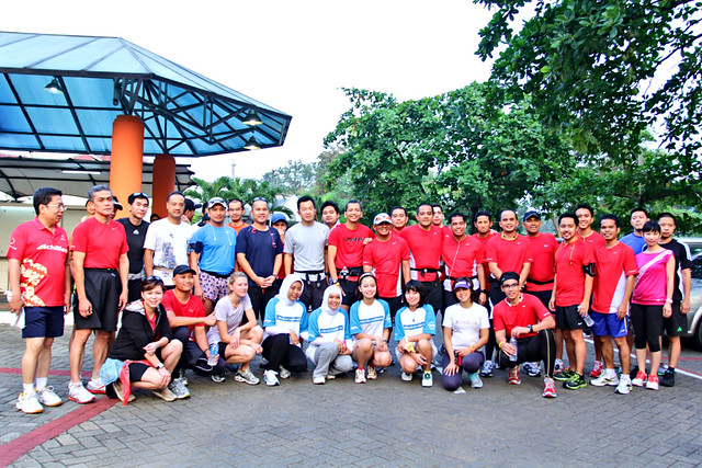 Indonesian team runners and participants