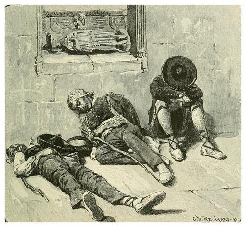 007-Durmiendo la siesta en la calle-Spanish vistas-1883- George Parsons Lathrop