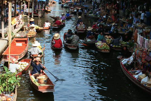 Floating market, Thailand. Photo by Dominyk Lever, 2004
