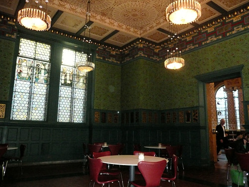 William Morris room in V&A cafe