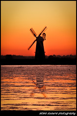 Sunset at High Mill,  Berney Arms. (Steven Docwra) Tags: sunset reflection castle water windmill canon photography iso100 norfolk marshes burgh berneyarms breydon greatphotographers withwater 400d flickrgoldaward flickraward flickrbronzeaward flickridol highqualityimages flickrunited flickrsgottalent flickrssuperstartalent mygearandme mygearandme1 mygearandme2 stevedocwra theelitephotographerlevel3 theelitephotographerlevel4