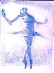 tude des ballerines (alfredo.saavedra) Tags: ballet art girl illustration pencil sketch artwork pretty drawing