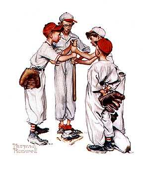 Norman Rockwell baseball
