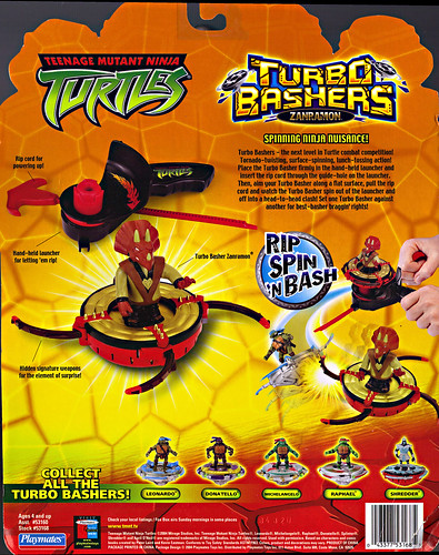 TEENAGE MUTANT NINJA TURTLES  'TURBO BASHERS'  ::  ZANRAMON ..card backer ii (( 2004 ))