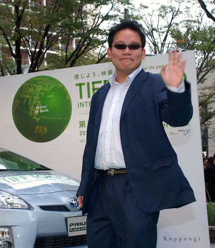 Walking the green carpet at Tokyo International Film Festival 2011