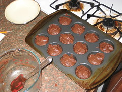 chocolate-beet muffins