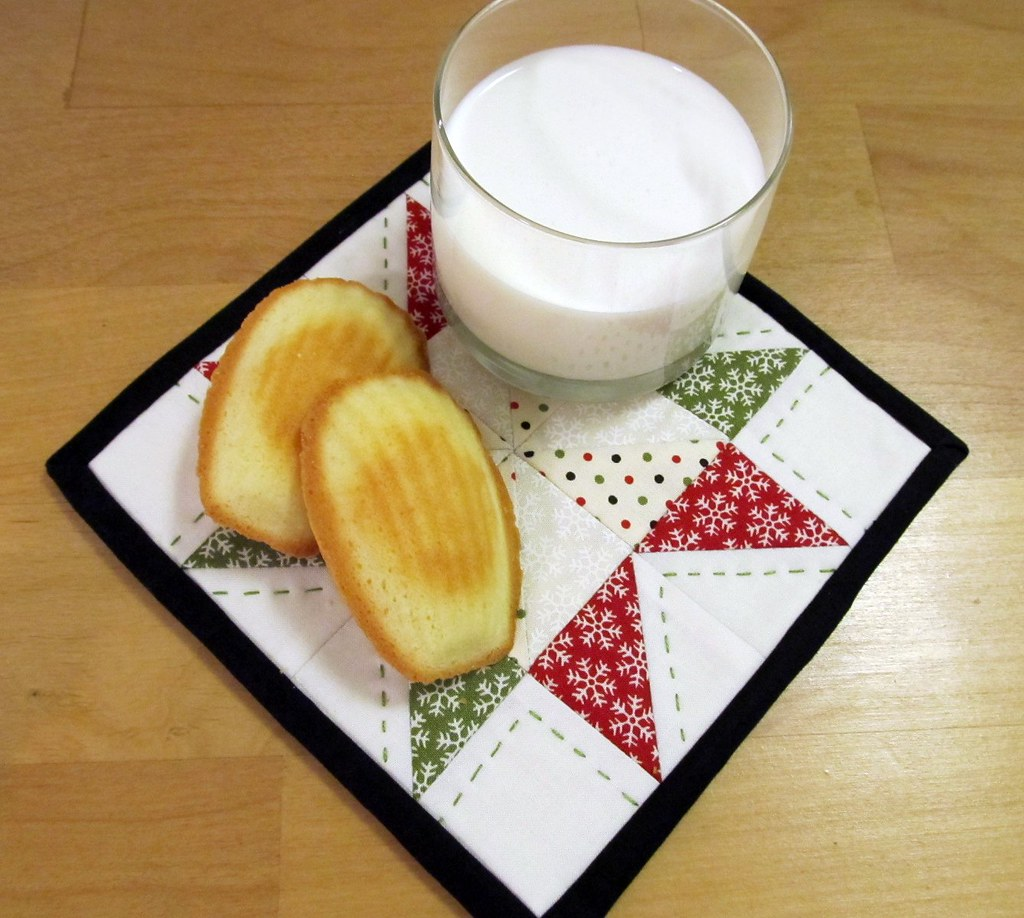 Madeleines, Milk, and a Mug Rug
