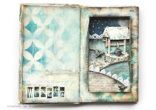 Winter - altered book