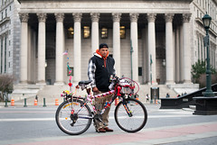 Robert: Downtown, Manhattan (Chris Arnade) Tags: newyorkcity manhattan bikenyc streetsblog chrisarnade