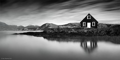 The Hut (Gary Newman) Tags: longexposure sea bw norway arctic sommary