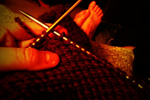 knitting + #worldseries :)