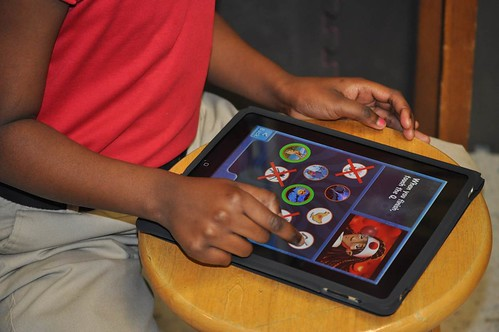 Students use the Body Quest ipad app