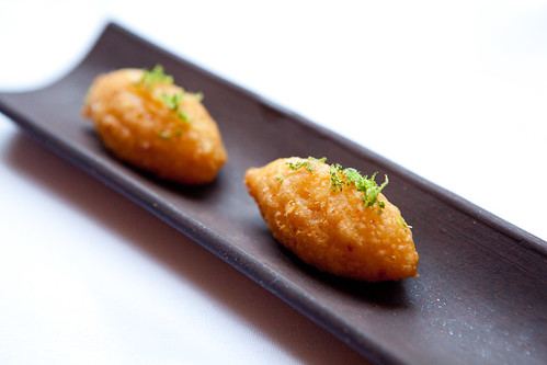 Potato croquette with lime zest