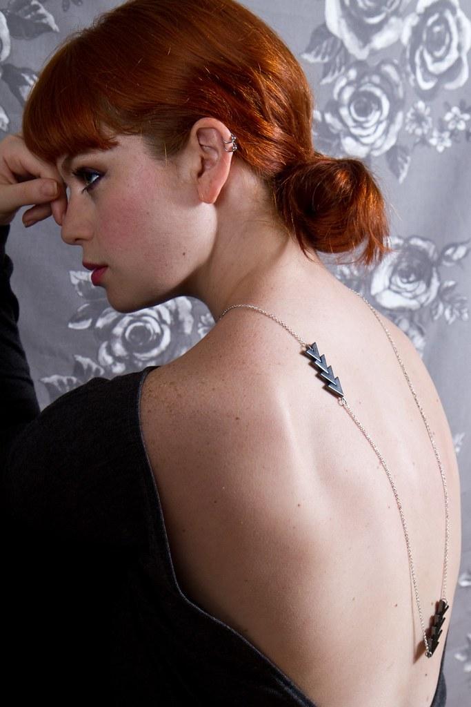 arrow statement necklace