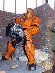 Halo Orange Spartan (supremeoverlord0) Tags: orange halo spartan megablok