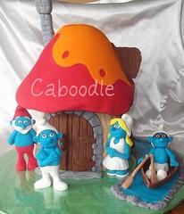 la la ...la la la la (The Whole Cake and Caboodle ( lisa )) Tags: newzealand cakes cake boat row toadstool smurf smurfs dinghy whangarei smurfette caboodle brainysmurf papasmurf toadstall grouchysmurf poppasmurf thewholecakeandcaboodle